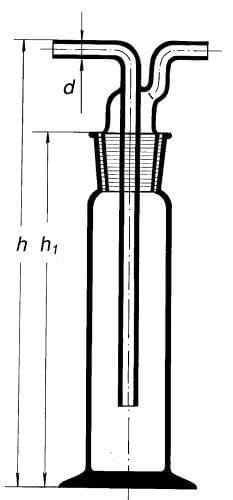 Promývačka podle Drechslera s NZ 29/32, 100 ml