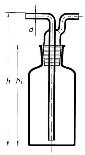 Promývačka podle Drechslera s NZ 29/32, 1000 ml