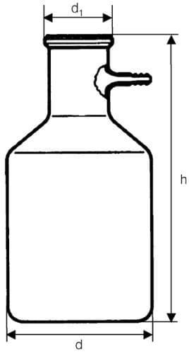 Láhev odsávací se skleněnou olivkou, 5000 ml