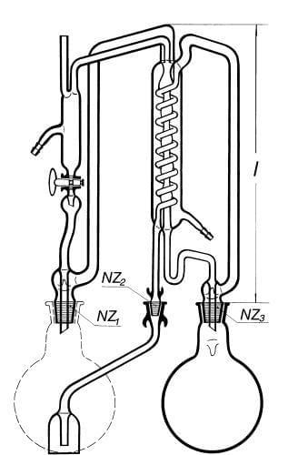 Přístroj destilační na nepřetržitou destilaci a redestilaci vody