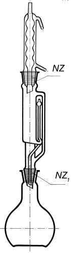 Přístroj extrakční dle Soxhleta s chladičem podle Allihna, 100 ml