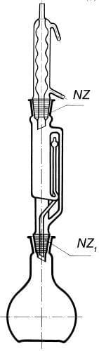 Přístroj extrakční dle Soxhleta s chladičem podle Allihna, 1000 ml