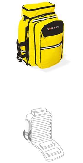R-aid - kapsy série M, oranžová/černá