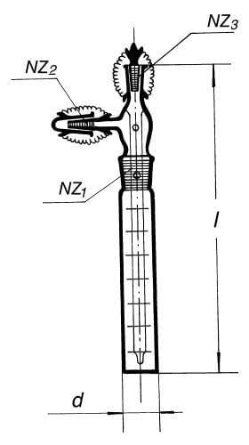 Přístroj na absorpci prašných látek ze vzduchu Impinger, NZ 19/26