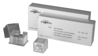 Mikrosklo krycí SUPERIOR, 1. hydrolytická třída, 15 × 15 mm
