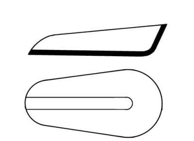 Lodička na vážení, 125 × 45 × 20 mm