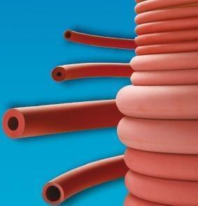 Hadice pryžová, červená, vakuová, vnitřní průměr 4 mm - 4 x 12