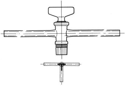 Kohout trojcestný, označení 2, vrtání 2,5 mm, tvar T