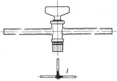 Kohout trojcestný, označení 2, vrtání 2,5 mm, tvar L