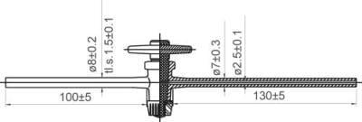 Kohout přímý jednocestný, NZ 12,5, teflon