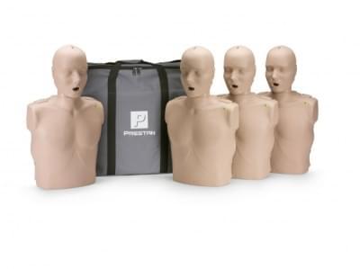 Prestan KPR-AED figurína dospělého člověka s KPR monitorem - balení 4 ks