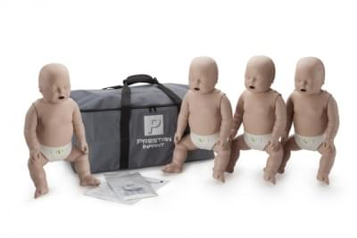 Prestan KPR-AED simulátor kojence s KPR monitorem - balení 4 ks