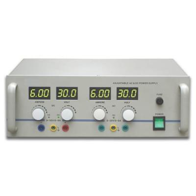 AC / DC Zdroj napájení, 0-30 V, 0-6 A (230 V, 50 / 60 Hz)