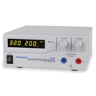 DC zdroj napájení 1-32 V / 0-20 A (230 V, 50 / 60 Hz)