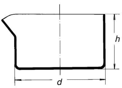 Miska křemenná, krystalizační, s výlevkou, ploché dno, 100 ml
