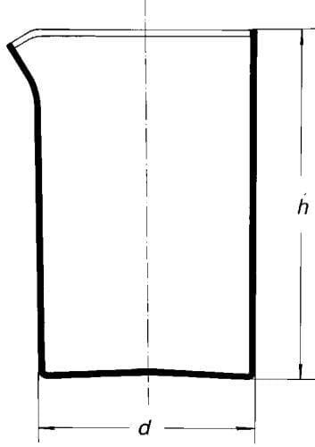Kádinka křemenná, s výlevkou, 100 ml