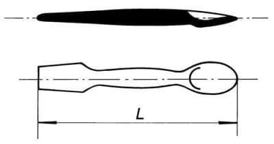 Kopisť se lžicí, 164 mm