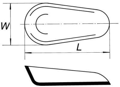 Lodička na vážení, délka 64 mm