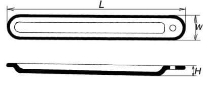 Lodička spalovací s ouškem, délka 90 mm