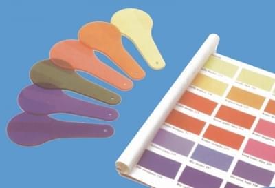 4135 - Průsvitné barevné vzorky