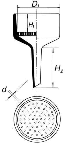 Nálevka Bűchnerova, průměr 156 mm