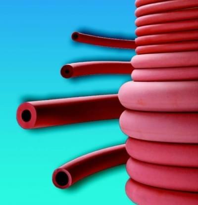 Hadice pryžová, červená, průměr 12 mm - 5 x 12