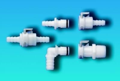 Rychlospojky, celoplastové, sameček - úhlový, průměr olivky 9,5 mm