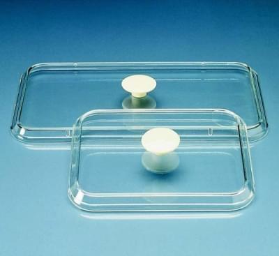 Víko k podnosu na nástroje 190 × 150 mm, PS, průhledné, s hmatníkem