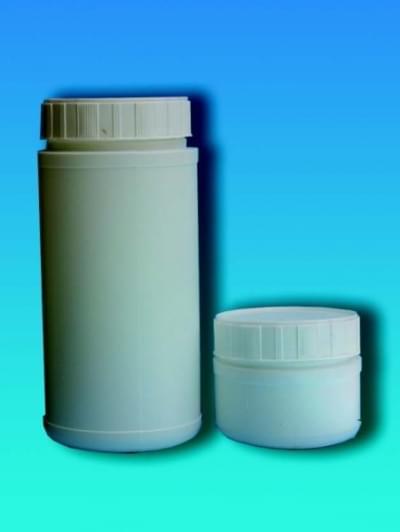Láhev na chemikálie, širokohrdlá, bílá, 250 ml