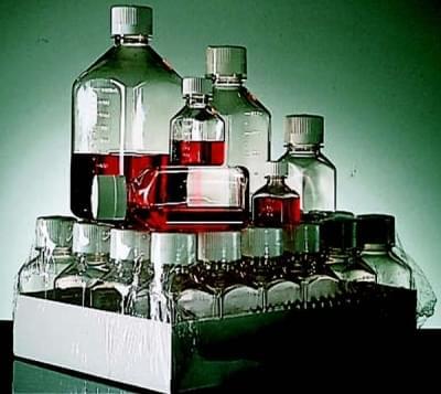 Láhev sterilní, čtvercová, PETG