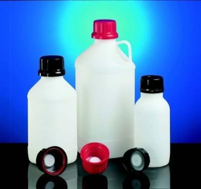 Láhev reagenční s UN kódem,HDPE,úzkohrdlá,průsvitná, bez uzávěru, 2 500 ml