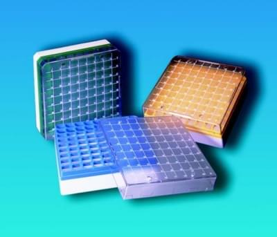 Kryobox s mřížkou, PC, pro 1,2 - 2 ml zkumavky