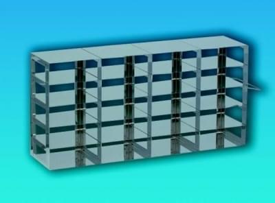 Stojan nerez na kryoboxy, pro skříňový mraz. Box, 4 × 4 míst