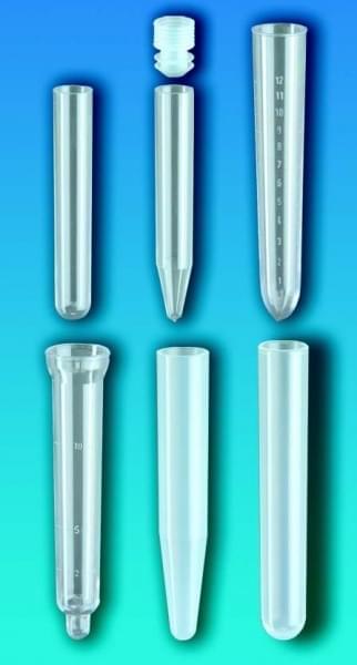 Zkumavky, PS, bez uzávěru, kónické dno, 12 ml, průměr 18 mm