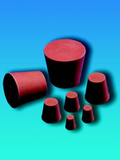 Zátka gumová, kónická, horní průměr 16,5 mm, dolní průměr 12,5 mm, výška 20 mm
