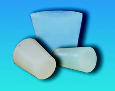 Zátka silikonová, kónická, pro teploty  -60…+220 °C, horní průměr 12 mm, dolní průměr 8 mm