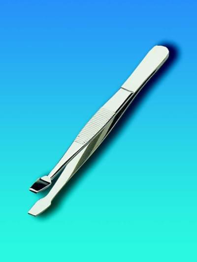 Pinzeta přímá nerezová, ploché čelisti přímé, délka 105 mm
