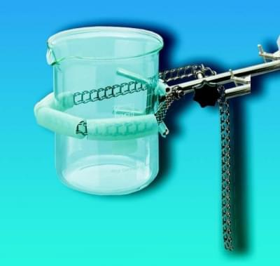 Držák na kádinky, řetězový, nerez ocel, délka řetězu 700 mm, upínací průměr 50 - 160 mm