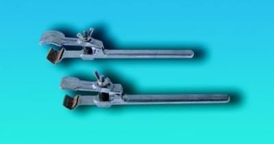 Držák bez svorky, k uchycení dvojitou svorkou na tyč stojanu, typ II, délka 196 mm