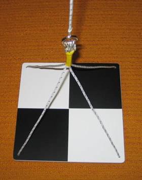 Secciho deska čtvercová - Měření průhlednosti vody