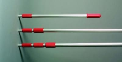 Teleskopická tyč z hliníku pro prům. naběračky, nast. délka od 0,95 m do 2,80 m