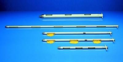 Zónový vzorkovač na sypké materiály - profilový vzorkovač, hliník, průměr 25 mm