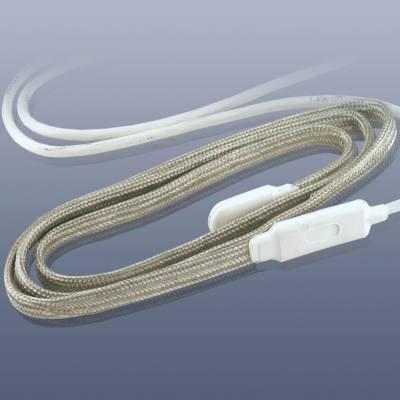 KM-HT-202-1 - Topný pás se silikonovou izolací, do 200°C  IP 65, 13 x 4 mm délka 1 m
