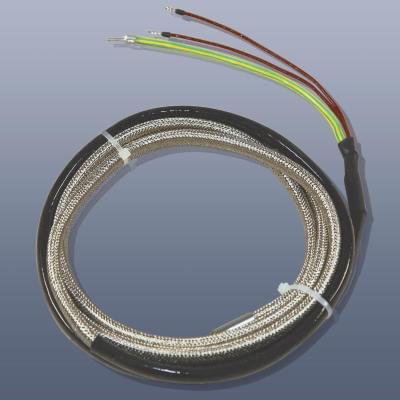 KM-HT-G-1 - Topný pás s izolací ze skelné tkaminy, do 450°C, IP20, 12 x 8 mm délka 1 m