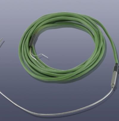 KM-TNS-DP - NiCr-Ni teplotní čidlo, tyčinka průměr 1,5 x 300 mm, plášť Inconell do 1200°C, diodová koncovka