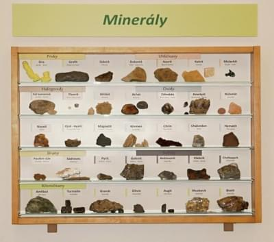 Vitrína - Minerály