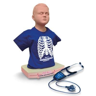 NZ10214 - PAT BASIC™ pediatrická figurína pro nácvik auskultace s Wi-Fi® SimScope™