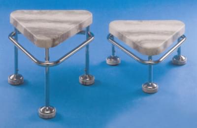 Pojízdná stolička výška 400 mm, kostra chromovaná, neantistatická