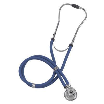 Stetoskop - s dvojitou hadičkou - modrý