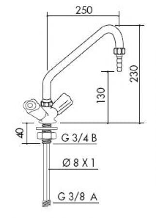 TOF 1000/275 - Laboratorní baterie - nákres